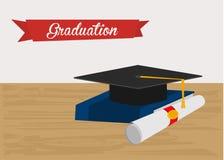 毕业帽子例证 免版税图库摄影