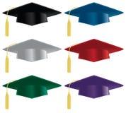 毕业帽子 库存照片