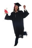 毕业愉快的妇女 库存照片