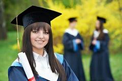 毕业愉快的学员 免版税库存照片