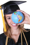 毕业生妇女 免版税图库摄影