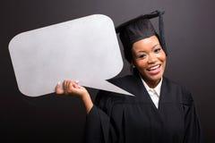 毕业生空白的文本泡影 免版税库存照片
