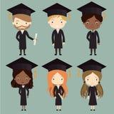 毕业生被设置 免版税库存图片