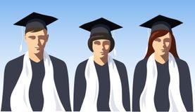 毕业生类海报 库存照片