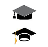 毕业盖帽传染媒介 免版税库存照片