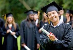 毕业组学员 库存照片