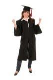 毕业长袍妇女 库存照片
