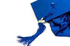 毕业2018盖帽和缨子 免版税库存图片