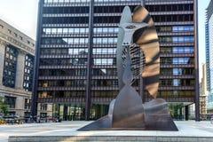 毕加索雕塑在芝加哥 免版税库存照片