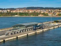 毕尔巴鄂客运枢纽站,西班牙新的口岸  免版税库存照片