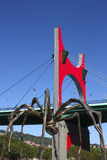 毕尔巴鄂桥梁巨型la药膏蜘蛛 库存图片