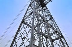 毕尔巴鄂桥梁建筑金属 免版税库存照片