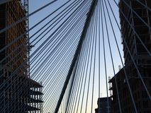 毕尔巴鄂桥梁 库存照片