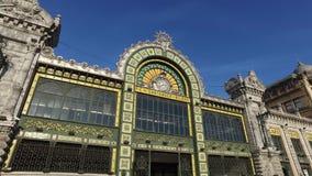 毕尔巴鄂,桑坦德,巴斯克地区,西班牙的火车站的入口 La Concordia 影视素材