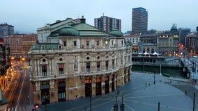 毕尔巴鄂,黄昏的西班牙 免版税库存图片
