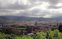 毕尔巴鄂-巴斯克国家首都都市风景  免版税库存图片