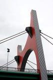 毕尔巴鄂bridge de西班牙皇太子红色西班牙语 免版税图库摄影
