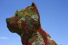 毕尔巴鄂guggenheim杰夫koons小狗雕塑 免版税库存照片