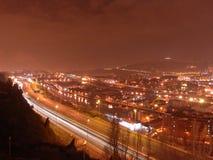 毕尔巴鄂在夜区域之前 免版税图库摄影