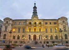 毕尔巴鄂市政厅城镇 免版税库存照片