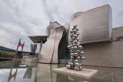 毕尔巴鄂,西班牙- 2016年10月16日:看法现代和contemporar 库存照片