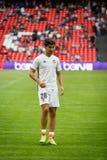 毕尔巴鄂,西班牙- 9月18 :卡洛斯更加单一,巴伦西亚锎球员,以前热化的对在毕尔巴鄂竞技队和Val之间的比赛 图库摄影