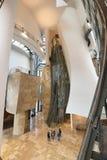 毕尔巴鄂,西班牙- 10月16 :古根海姆美术馆内部10月的 免版税库存照片