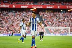 毕尔巴鄂,西班牙- 10月16 :尤里Berchiche Izeta,皇家社会队球员,在西班牙联赛期间的行动的在运动B之间 图库摄影