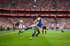 毕尔巴鄂,西班牙- 10月16 :尤里Berchiche Izeta,皇家社会队球员,在西班牙联赛期间的行动的在运动B之间 免版税库存图片