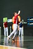 毕尔巴鄂,西班牙- 4月9 :比赛的帕布鲁Berasaluze早先对对手球冠军赛,庆祝4月9日, 免版税图库摄影
