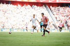 毕尔巴鄂,西班牙- 9月18 :阿列斯・阿杜列斯,运动俱乐部毕尔巴鄂球员,在毕尔巴鄂竞技队和巴伦西亚锎之间的比赛的, cel 免版税库存照片