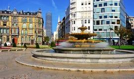 Moyua广场在毕尔巴鄂,西班牙 库存图片