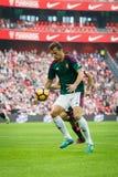 毕尔巴鄂,西班牙- 10月30 :Oriol列拉, Osasuna球员,在西班牙联赛期间的行动的在毕尔巴鄂竞技队和Osasu之间 图库摄影