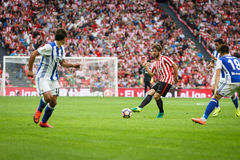 毕尔巴鄂,西班牙- 10月16 :Yeray阿尔瓦雷斯, Athlectic俱乐部毕尔巴鄂球员,在毕尔巴鄂竞技队和皇家社会队之间的比赛的, c 免版税图库摄影