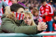 毕尔巴鄂,西班牙- ARPIL 10 :比赛的Ze卡斯特罗在毕尔巴鄂竞技队和巴列卡诺足球俱乐部之间,庆祝2016年4月10日在Bilba 库存图片