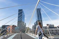 毕尔巴鄂,巴斯克国家,西班牙2015年10月30日:Izozaki塔 免版税库存图片
