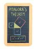毕达哥拉斯的定理 免版税图库摄影
