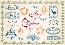 毗邻圣诞节框架向量 免版税库存图片