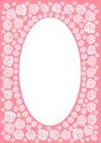 毗邻框架粉红色上升了 免版税库存图片