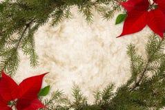 毗邻的圣诞节羊皮纸 图库摄影