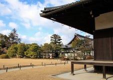毗邻Ninomaru宫殿的Ninomaru庭院 免版税库存照片