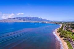毛伊夏威夷美丽的岸  图库摄影