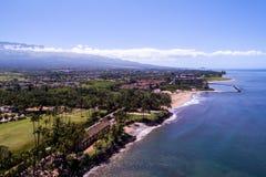 毛伊夏威夷美丽的岸  免版税库存照片
