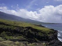 毛伊夏威夷风景在一个晴天 免版税库存照片