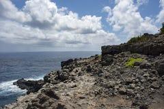毛伊岩石海岸 库存图片