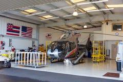 毛伊,夏威夷- 2016年12月24日:与众不同的直升机`毛伊 免版税库存图片