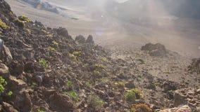 毛伊Haleakala火山 免版税库存图片