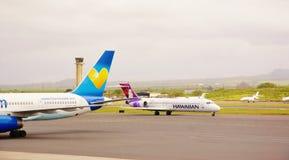 毛伊kahului机场夏威夷状态 库存照片