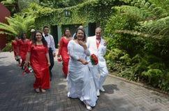 毛利人新娘和新郎-新西兰 库存图片