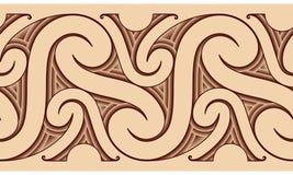 毛利人模式纹身花刺 图库摄影